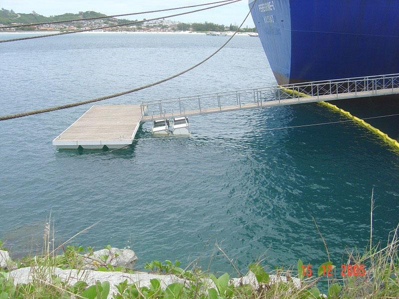Construção de ancoradouros