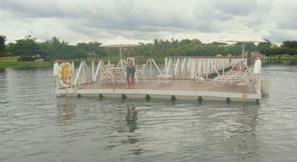Píer flutuante projeto