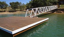 Piers De Fibra De Vidro/Madeira/Aço E Concreto